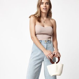 Pacsun L.A. Hearts Ribbed Tube Top
